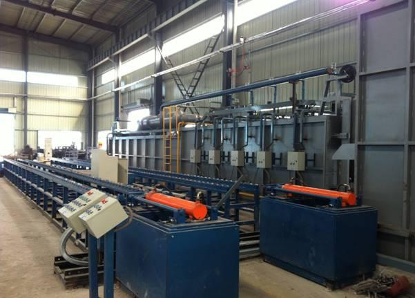 燃氣隧道爐熱處理生產線